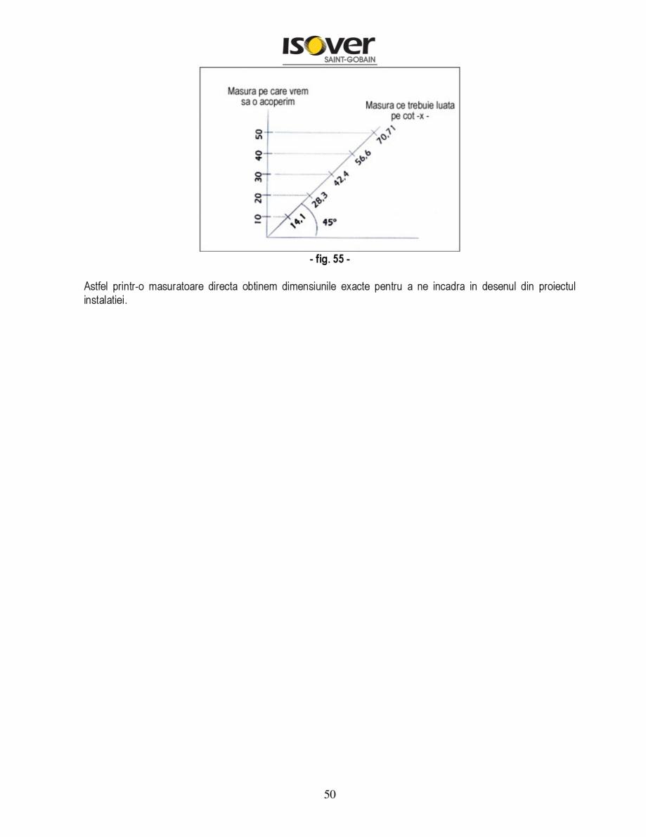 Pagina 50 - Manual de instalare a canalelor de aer autoportante Climaver ISOVER Climaver A2 Neto,...