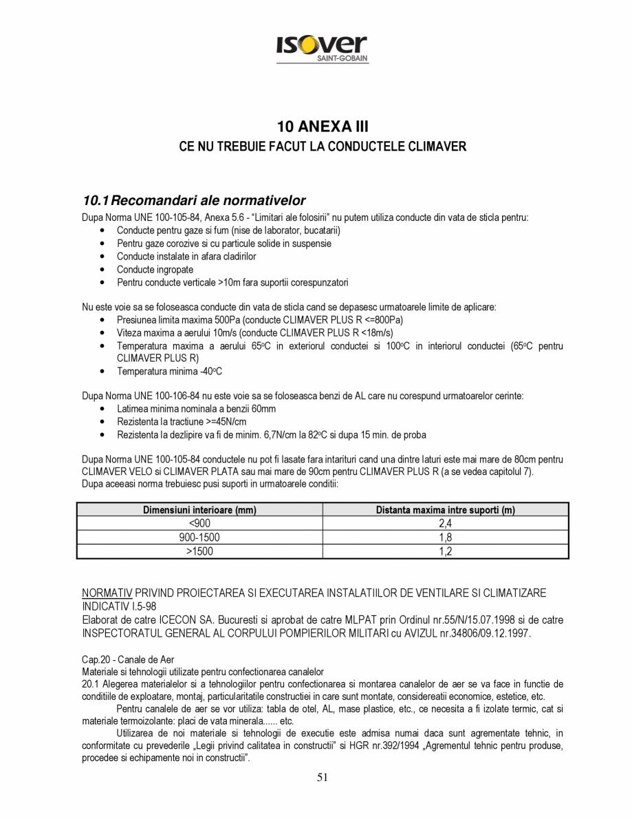 Pagina 51 - Manual de instalare a canalelor de aer autoportante Climaver ISOVER Climaver A2 Neto,...