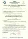 Certificat de constanta a performantei pentru vata minerala de sticla ISOVER - Ventiroll