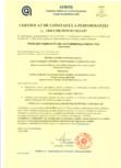 Certificat de constanta a performantei pentru vata minerala bazaltica - nr: 1840-CPR-99/91/EC/0114-07 ISOVER