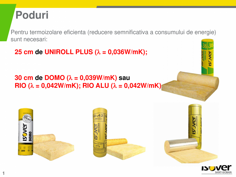 Pagina 1 - Sistemul TOP-KOMFORT pentru poduri circulabile si necirculabile ISOVER RIO ALU, RIO...
