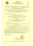 Certificat de constanta a performantei nr 1840-CPR-99 91 EC 0677-18 pentru produse fabricate din vata minerala