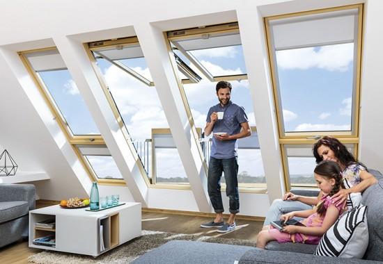 Ferestre de mansarda, ferestre de acces pe acoperis FAKRO