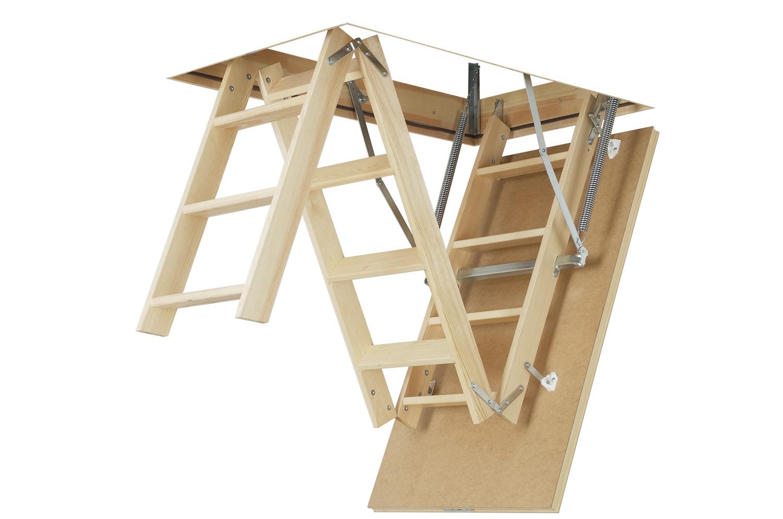Scari modulare din lemn pentru acces la pod FAKRO - Poza 1