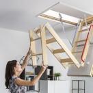 Scari modulare pliabile din lemn, pentru acces la pod FAKRO