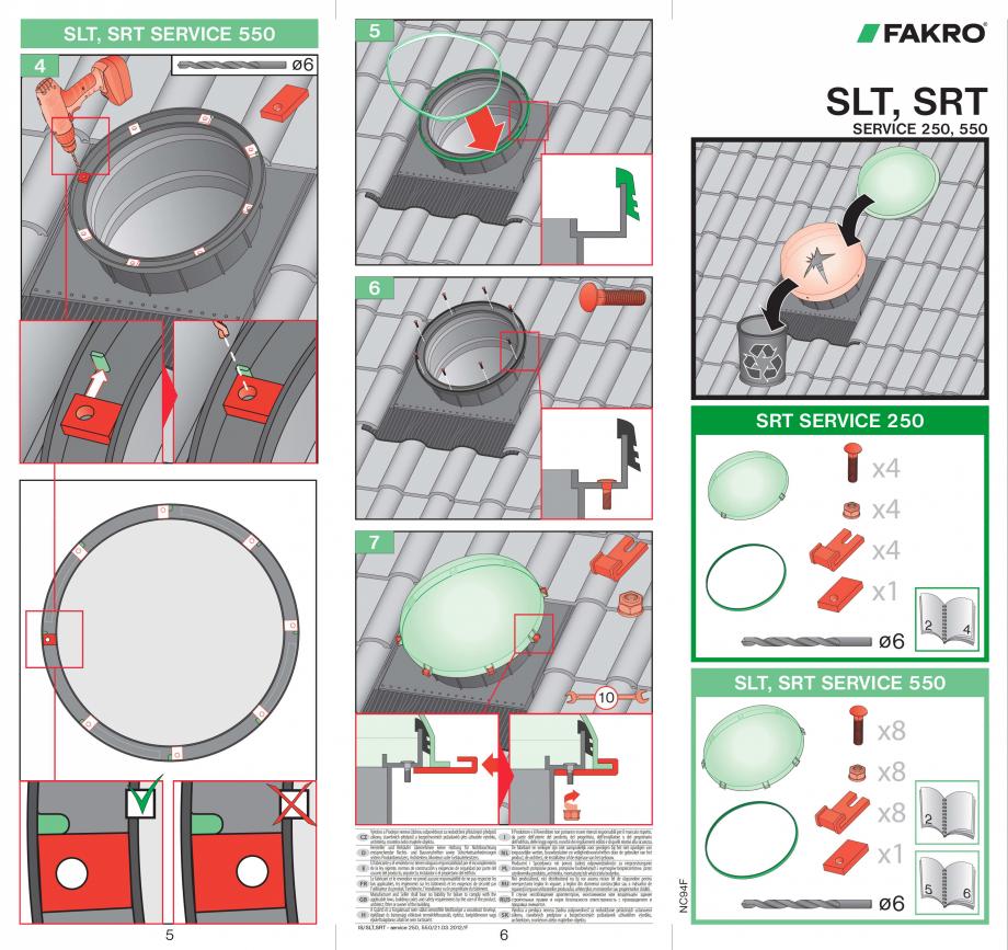 Pagina 1 - Intretinere tunele de lumina FAKRO SRT Instructiuni montaj, utilizare Romana