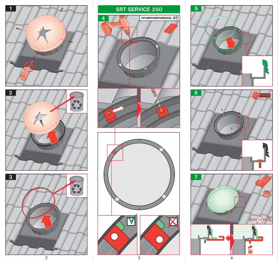 Pagina 2 - Intretinere tunele de lumina FAKRO SRT Instructiuni montaj, utilizare Romana
