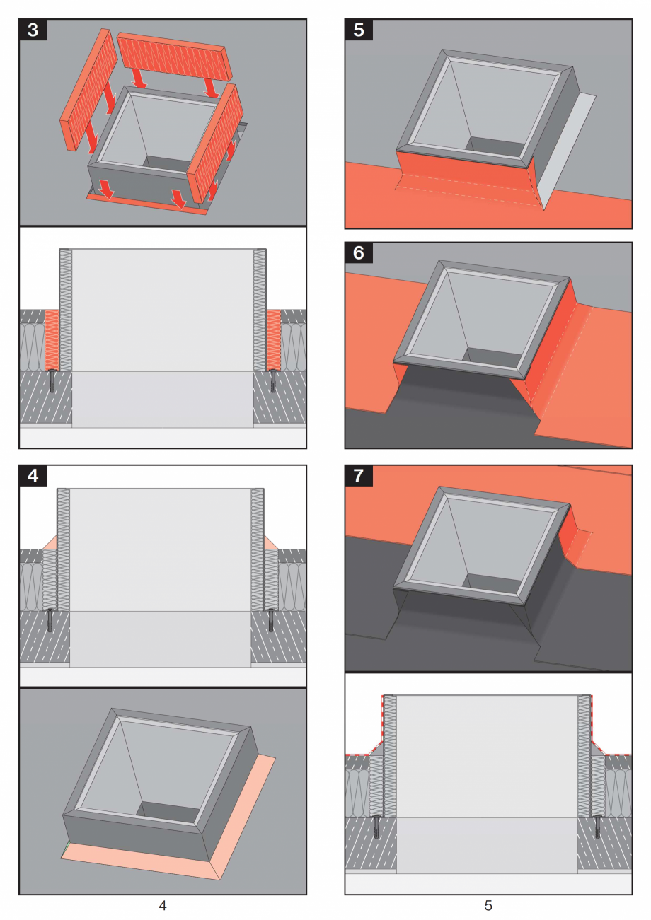 Pagina 3 - Instructiuni montaj pentru tunele de lumina  FAKRO SLT, SRT Instructiuni montaj,...