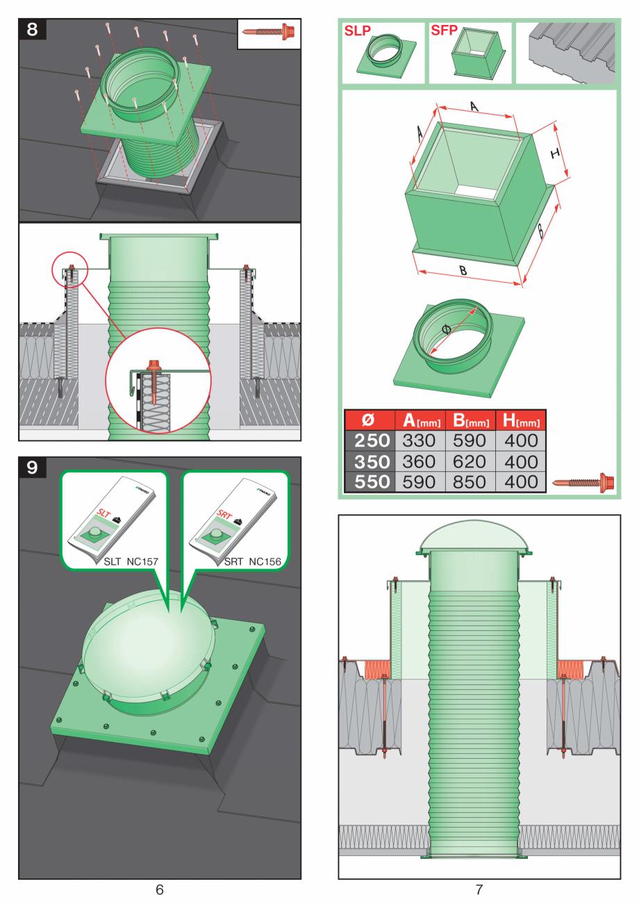 Pagina 4 - Instructiuni montaj pentru tunele de lumina  FAKRO SLT, SRT Instructiuni montaj,...
