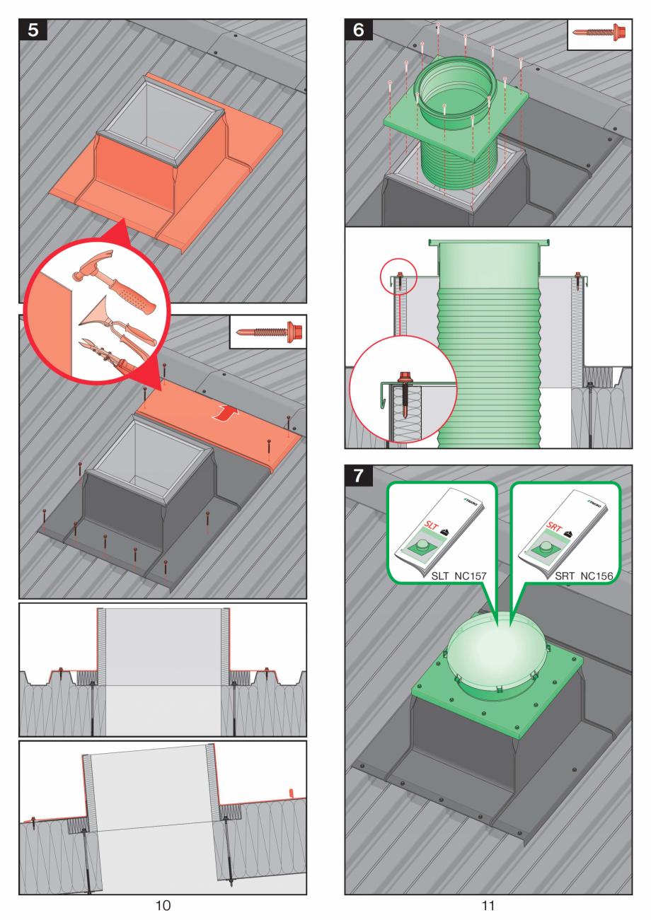 Pagina 6 - Instructiuni montaj pentru tunele de lumina  FAKRO SLT, SRT Instructiuni montaj,...