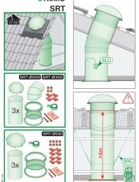 Instructiuni montaj pentru tunele de lumina - diametre 250,350,550 mm