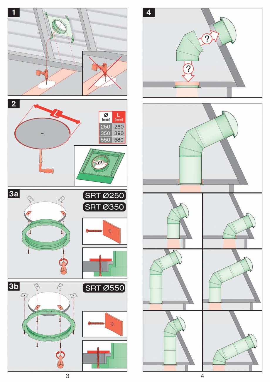 Pagina 2 - Instructiuni montaj pentru tunele de lumina - diametre 250,350,550 mm FAKRO SRT...