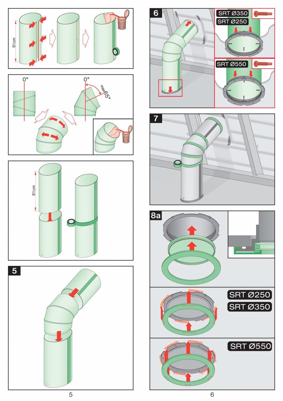 Pagina 3 - Instructiuni montaj pentru tunele de lumina - diametre 250,350,550 mm FAKRO SRT...