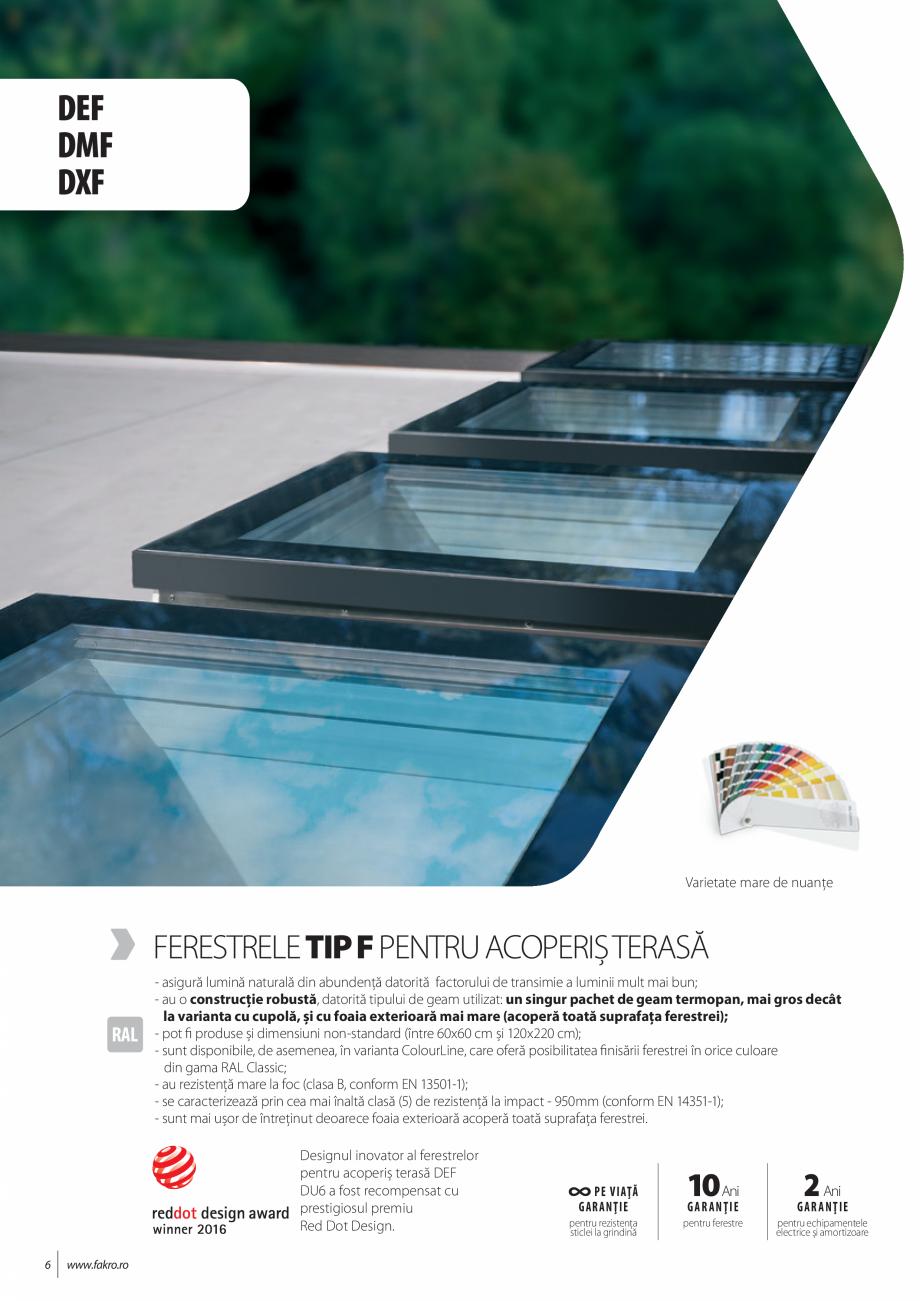 Pagina 6 - Lista de preturi ferestre pentru acoperis terasa FAKRO Catalog, brosura Romana �  D_W...