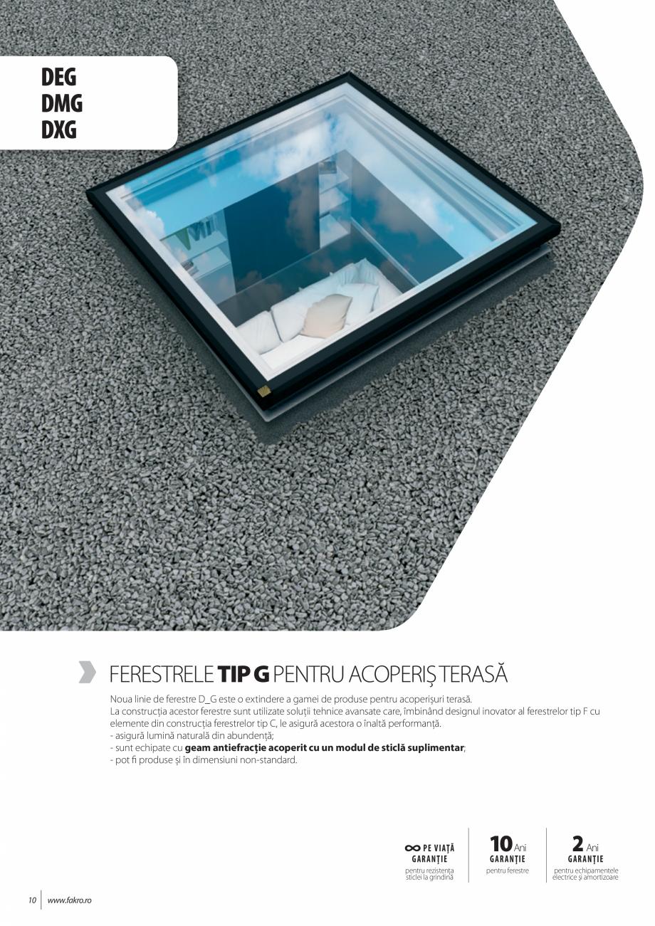 Pagina 10 - Lista de preturi ferestre pentru acoperis terasa FAKRO Catalog, brosura Romana F DU6...