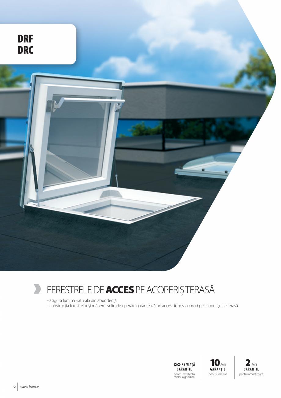 Pagina 12 - Lista de preturi ferestre pentru acoperis terasa FAKRO Catalog, brosura Romana e alţi...