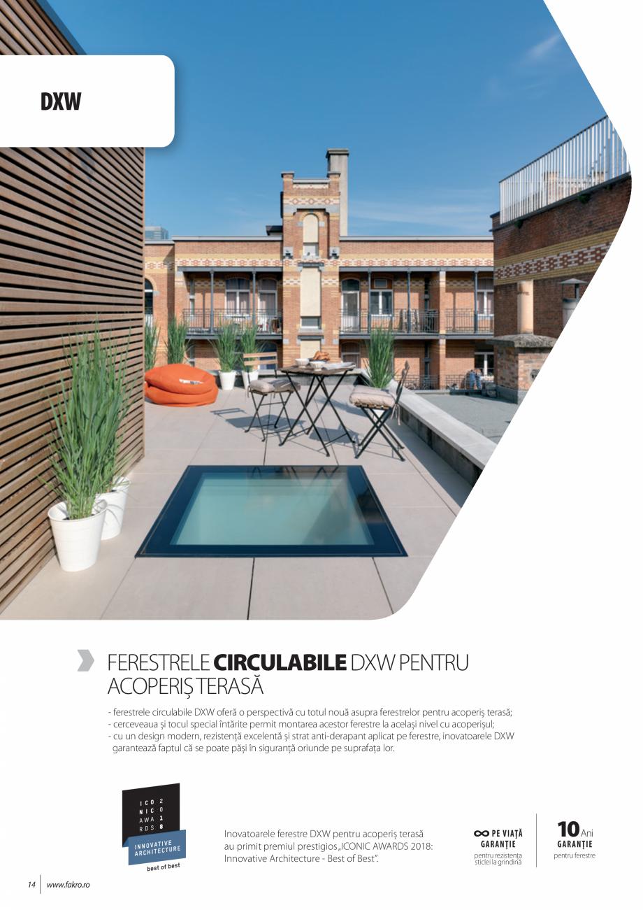 Pagina 14 - Lista de preturi ferestre pentru acoperis terasa FAKRO Catalog, brosura Romana �] codul ...