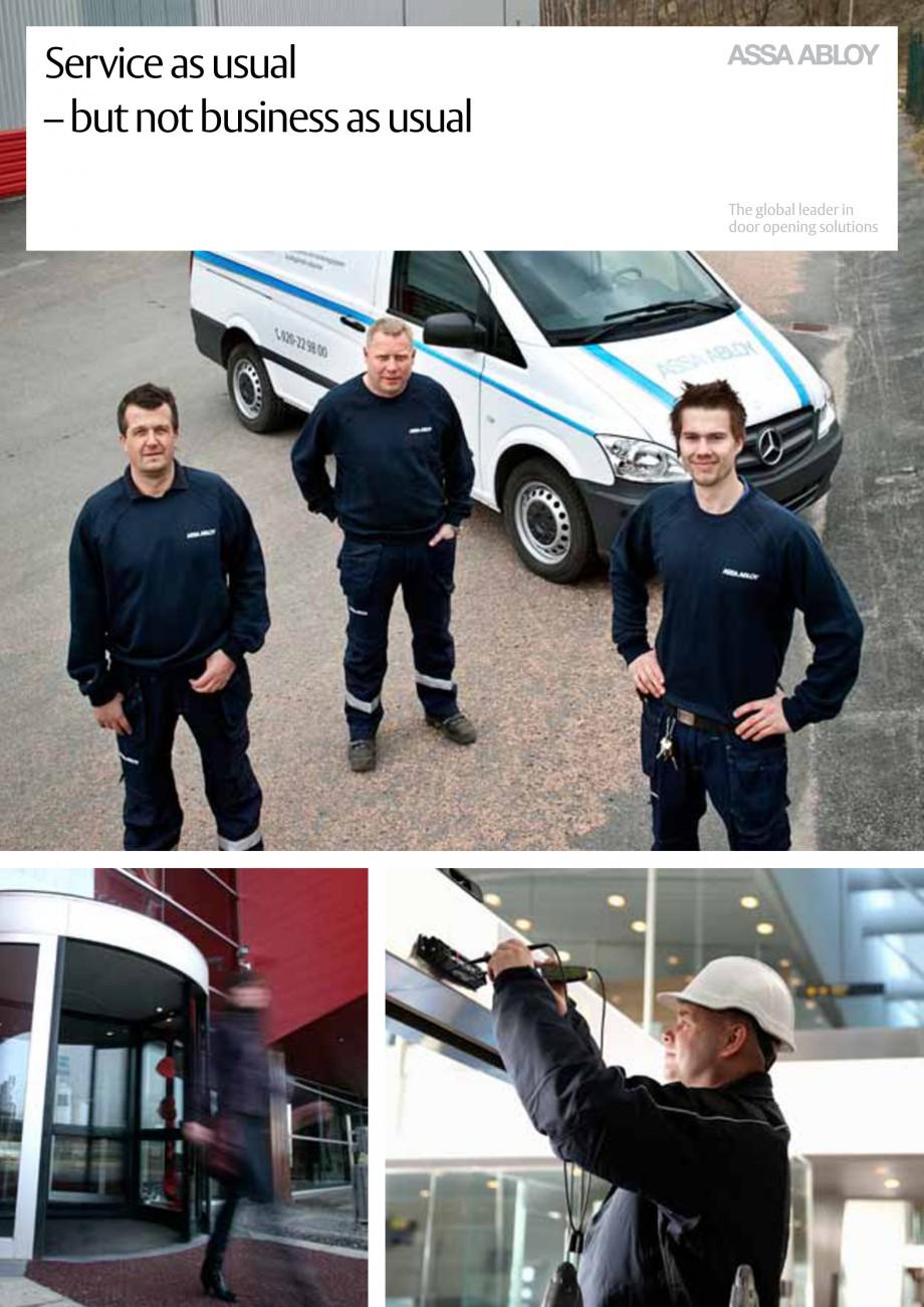 Pagina 1 - Servicii Assa Abloy Entrance Systems  Catalog, brosura Engleza Service as usual – but...