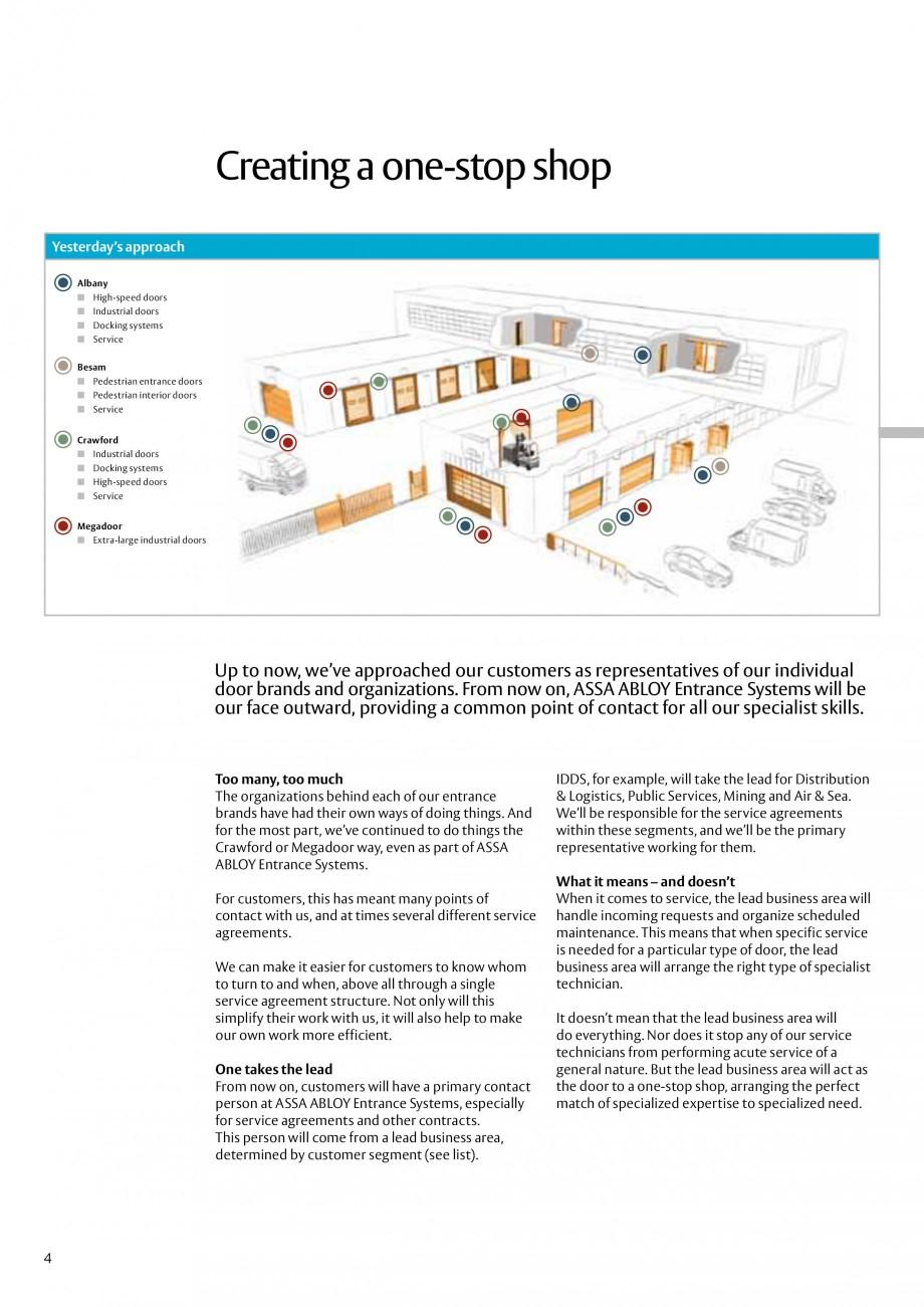 Pagina 4 - Servicii Assa Abloy Entrance Systems  Catalog, brosura Engleza ance Systems, especially...