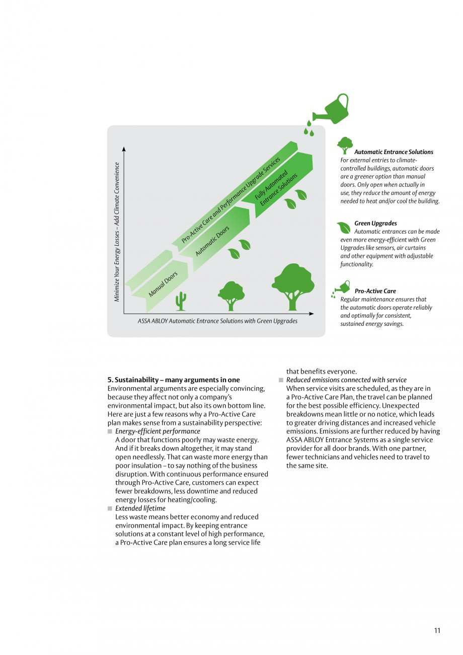 Pagina 11 - Servicii Assa Abloy Entrance Systems  Catalog, brosura Engleza  your sales approach....
