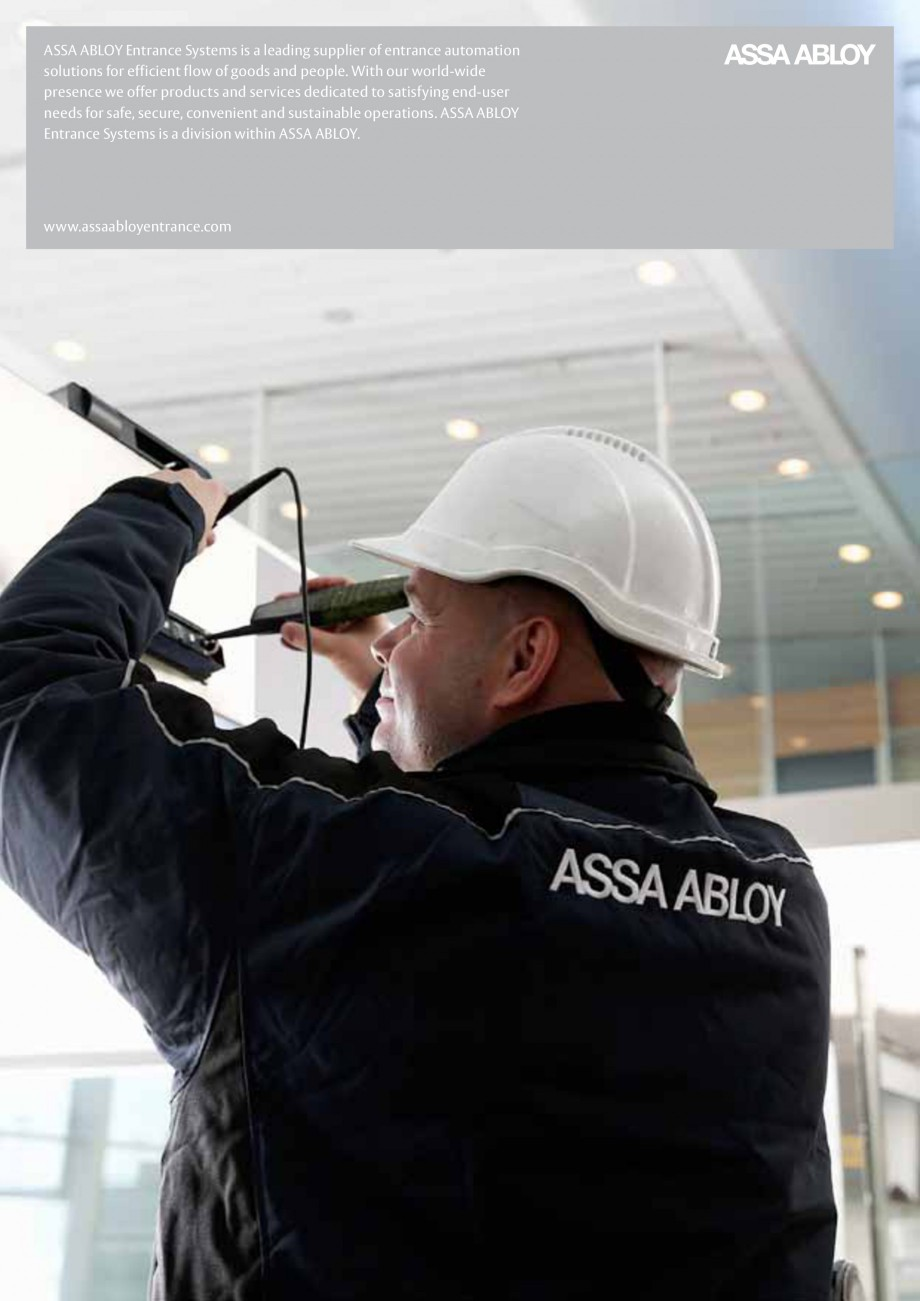 Pagina 12 - Servicii Assa Abloy Entrance Systems  Catalog, brosura Engleza luable leads that can...