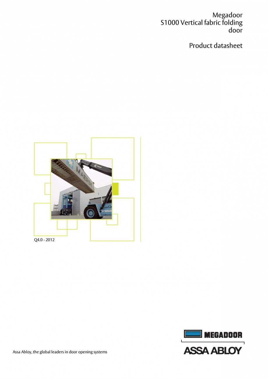 Pagina 1 - Usa industriala ASSA ABLOY Megadoor S1000 Fisa tehnica Engleza Megadoor S1000 Vertical...