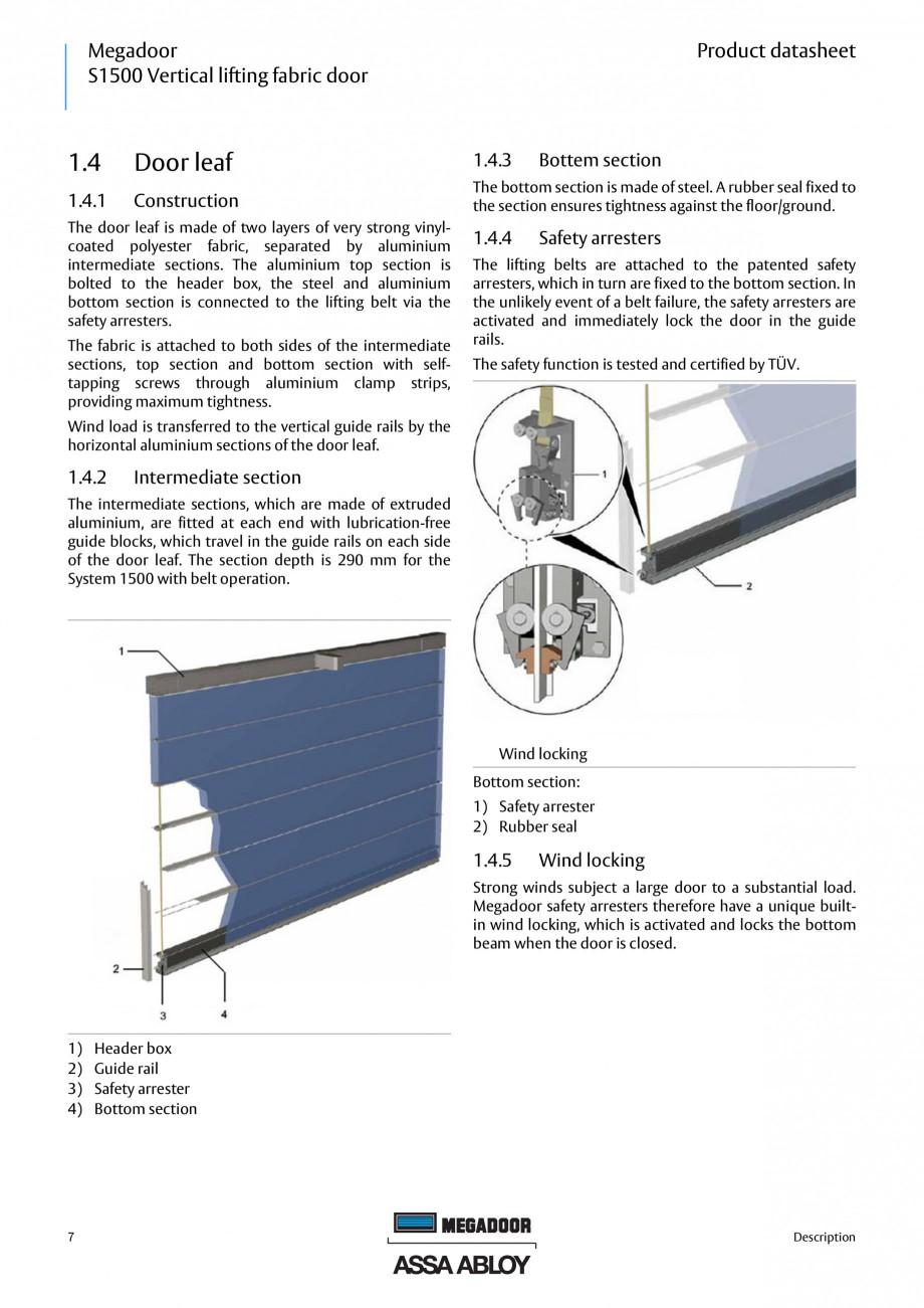 Pagina 6 - Usa industriala ASSA ABLOY Megadoor S1500 Fisa tehnica Engleza ic data......................