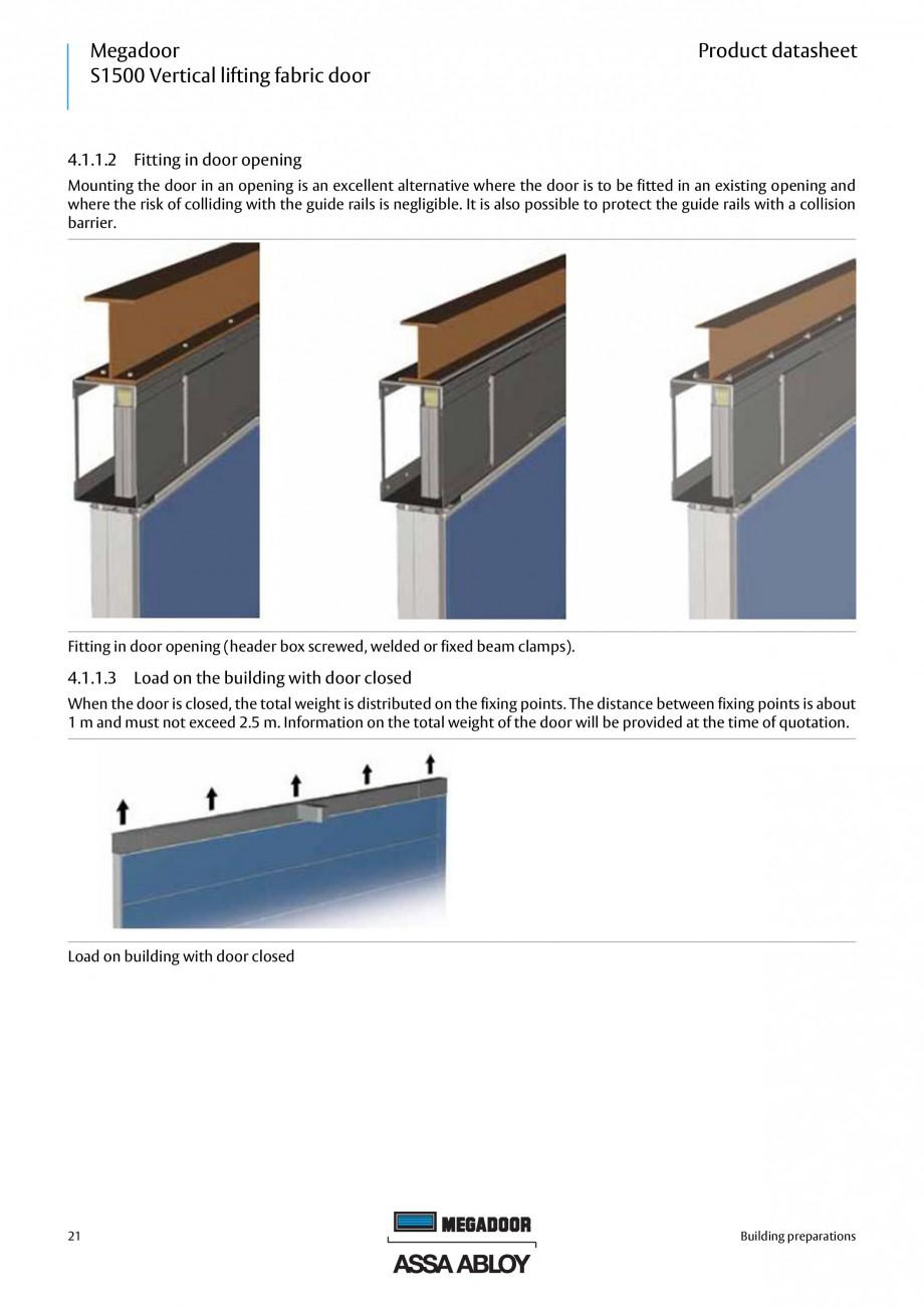 Pagina 21 - Usa industriala ASSA ABLOY Megadoor S1500 Fisa tehnica Engleza tandard)  1.6.2.2...