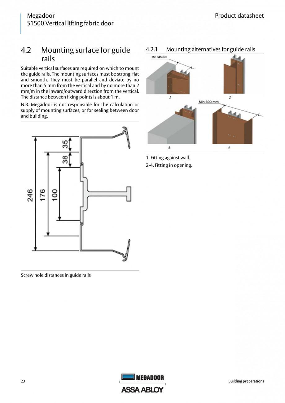 Pagina 23 - Usa industriala ASSA ABLOY Megadoor S1500 Fisa tehnica Engleza nit for emergency...