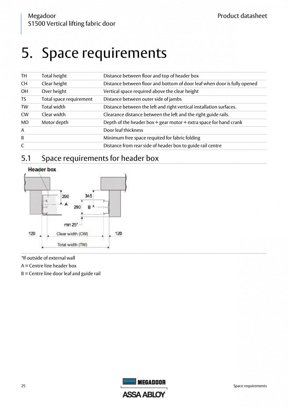 Pagina 25 - Usa industriala ASSA ABLOY Megadoor S1500 Fisa tehnica Engleza  are mainly hot dip...