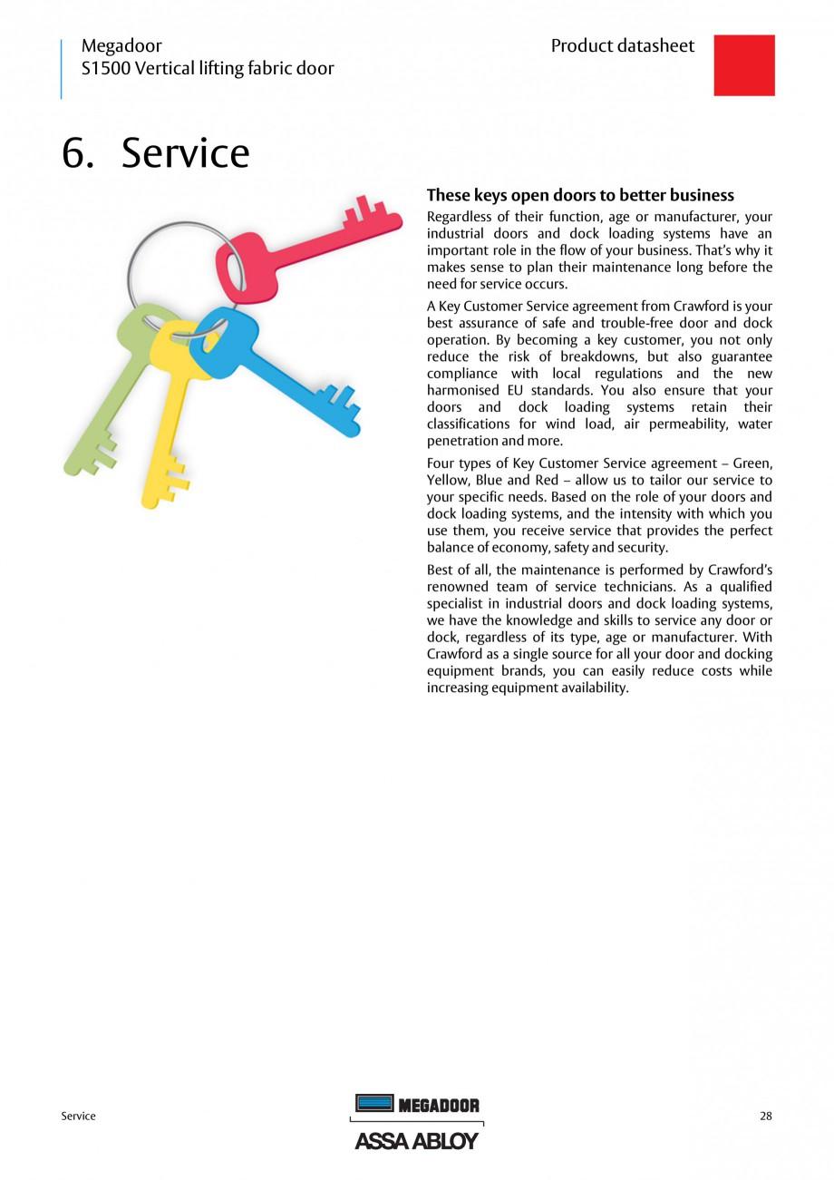 Pagina 28 - Usa industriala ASSA ABLOY Megadoor S1500 Fisa tehnica Engleza  Electrical insulation...