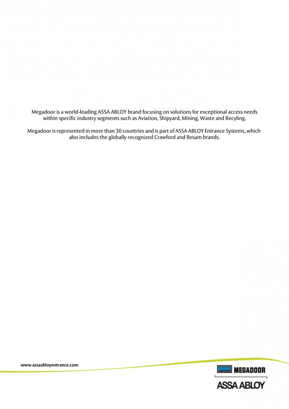 Pagina 30 - Usa industriala ASSA ABLOY Megadoor S1500 Fisa tehnica Engleza  • When the door is...