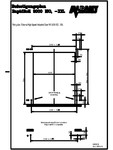Plan de fixare usi industriale rapide ASSA ABLOY - RapidRoll® 3000 ISO, RapidRoll® 3000 XXL
