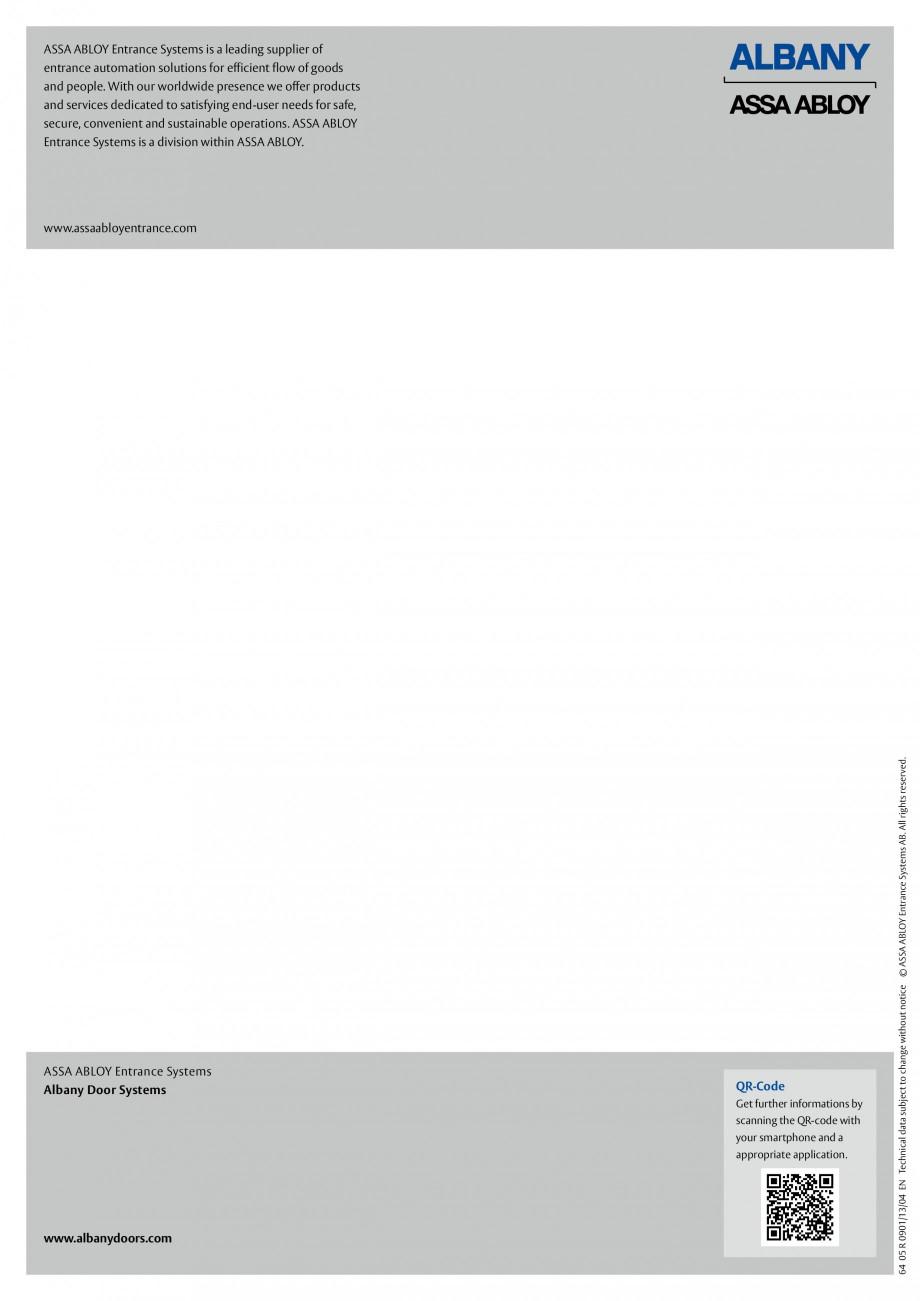 Pagina 4 - Perdea din benzi pvc ASSA ABLOY Cortine lamele Fisa tehnica Engleza ts and services...