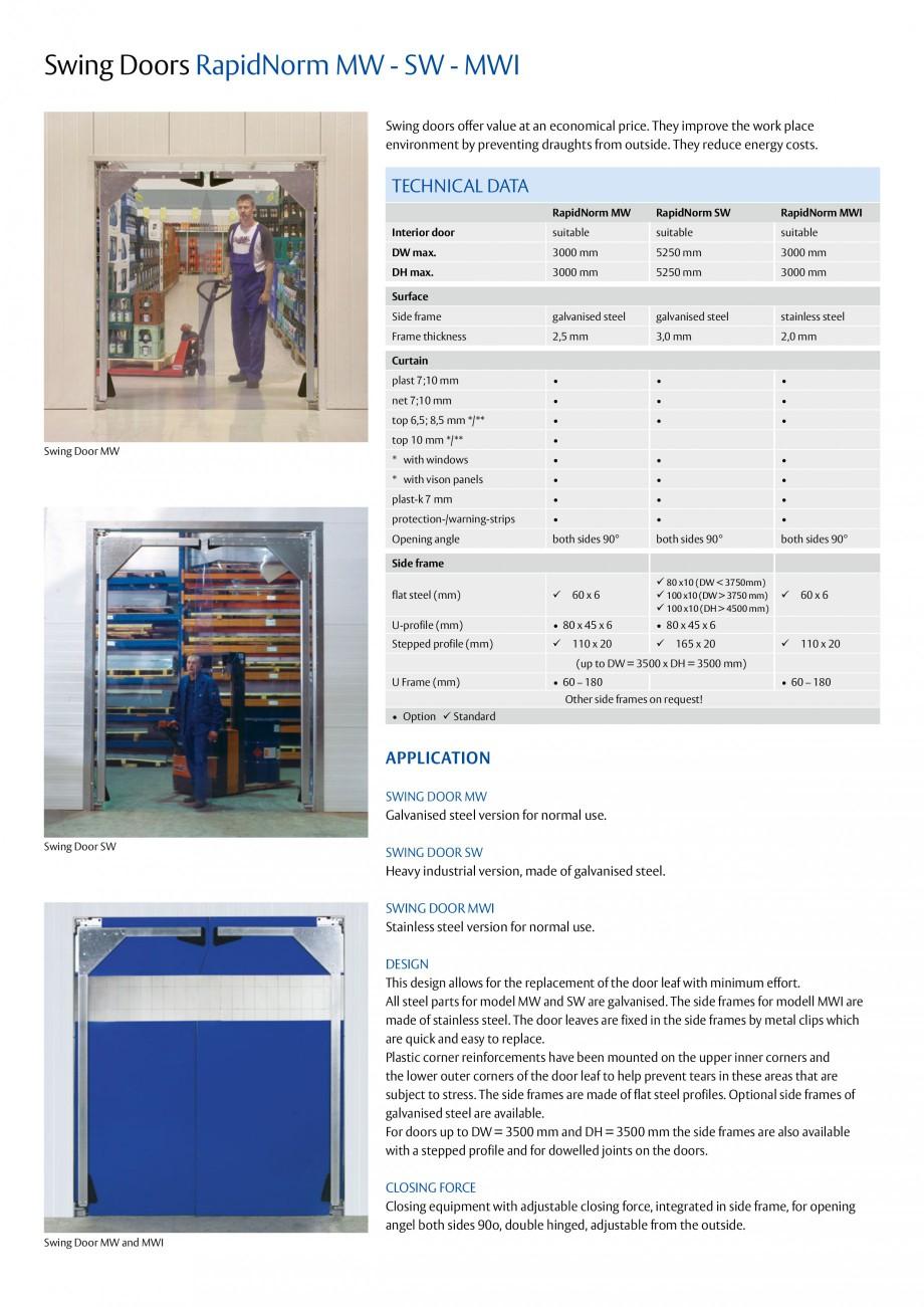 Pagina 2 - Usi batante ASSA ABLOY RapidNorm MW/SW/MWI Fisa tehnica Engleza lat steel (mm)    60 x...