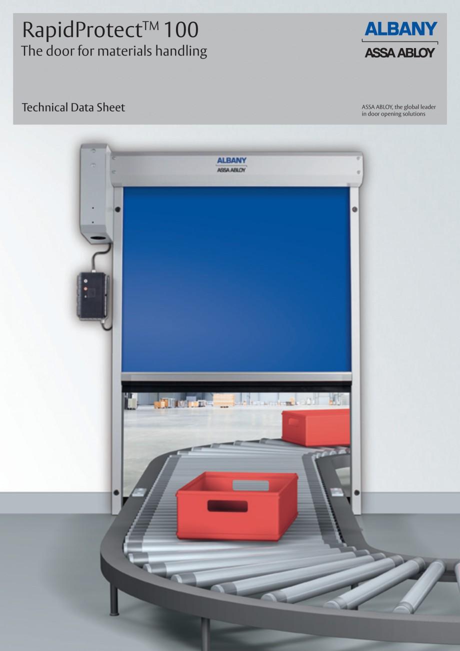 Pagina 1 - Usa industriala de inalta performanta ASSA ABLOY RapidProtectTM 100 Fisa tehnica Engleza ...