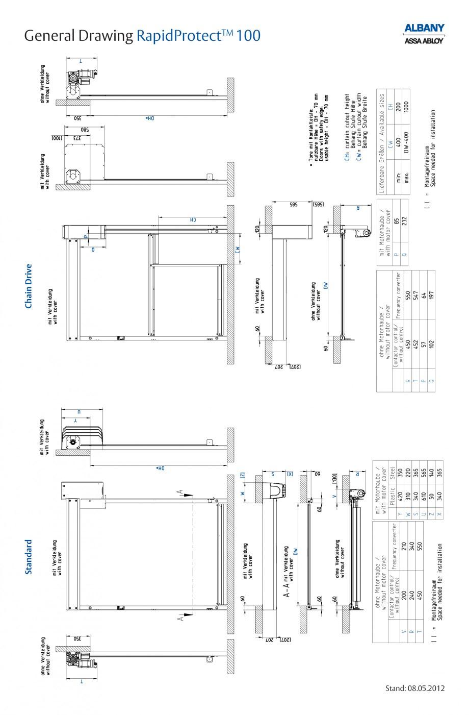 Pagina 5 - Usa industriala de inalta performanta ASSA ABLOY RapidProtectTM 100 Fisa tehnica Engleza ...