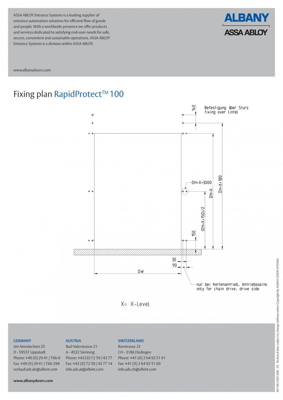 Pagina 6 - Usa industriala de inalta performanta ASSA ABLOY RapidProtectTM 100 Fisa tehnica Engleza ...