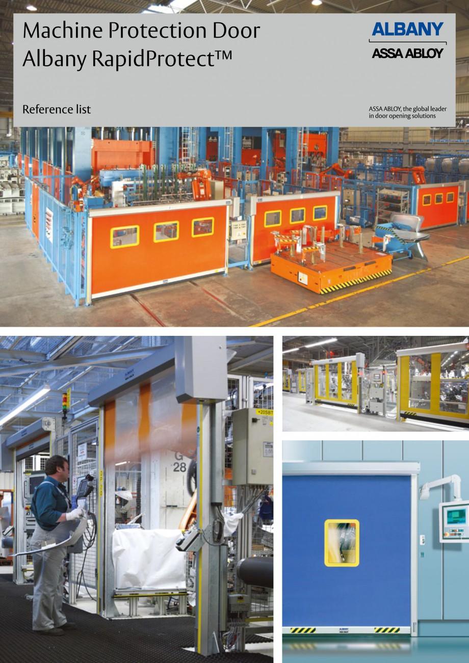 Pagina 1 - Usi industriale de inalta performata ASSA ABLOY RapidProtectTM 100, RapidProtectTM 300,...