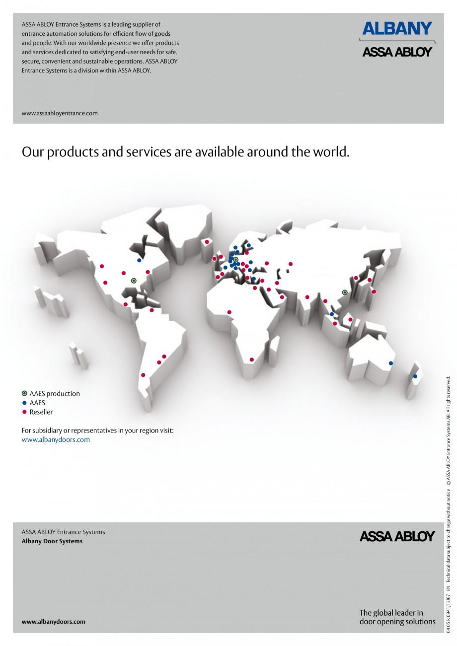 Pagina 6 - Usi industriale de inalta performata ASSA ABLOY RapidProtectTM 100, RapidProtectTM 300,...