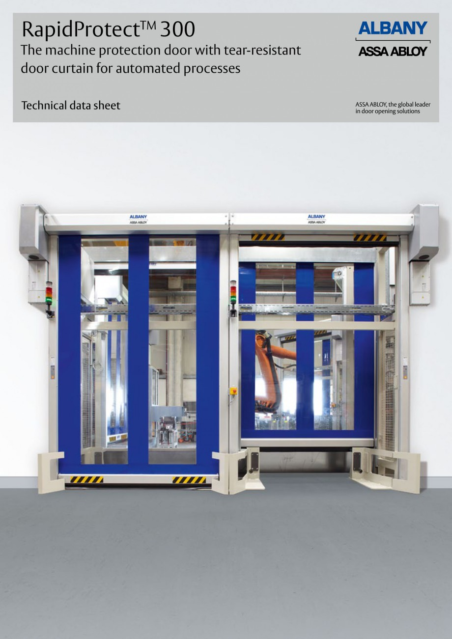Pagina 1 - Usa industriala de inalta performanta ASSA ABLOY RapidProtectTM 300 Fisa tehnica Engleza ...