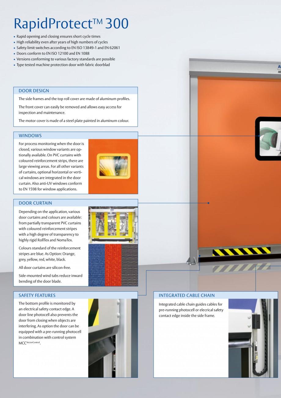 Pagina 2 - Usa industriala de inalta performanta ASSA ABLOY RapidProtectTM 300 Fisa tehnica Engleza ...