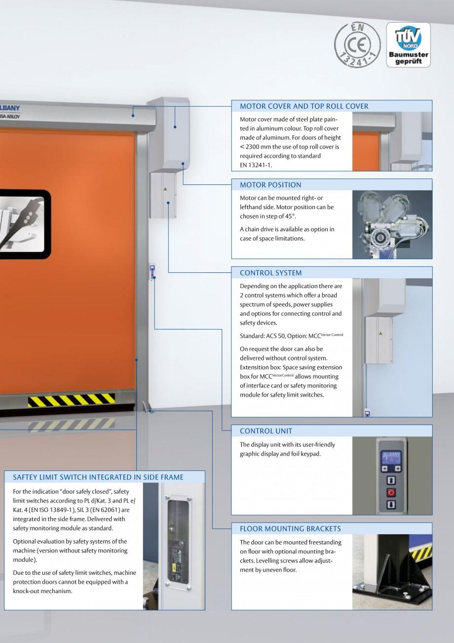Pagina 3 - Usa industriala de inalta performanta ASSA ABLOY RapidProtectTM 300 Fisa tehnica Engleza ...