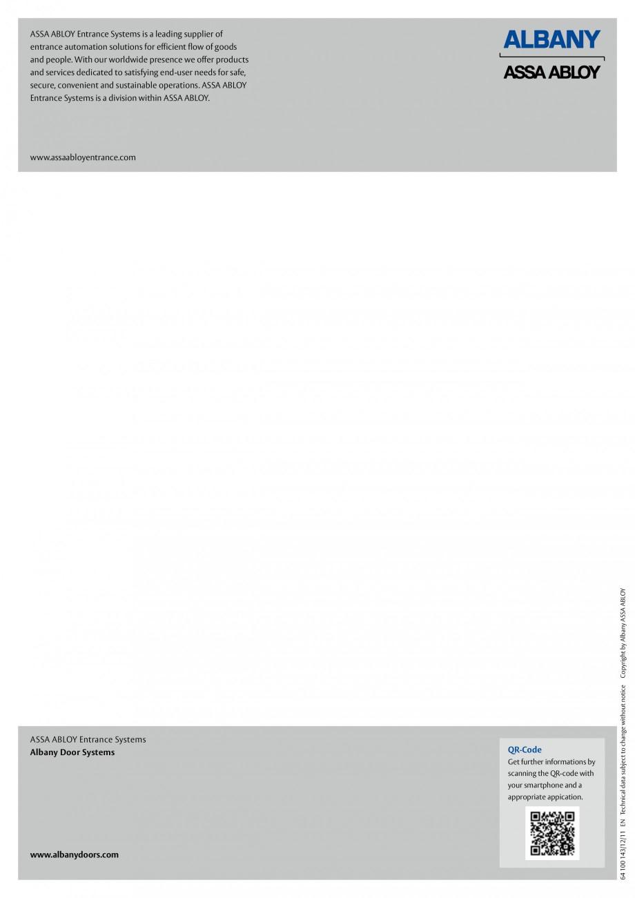 Pagina 6 - Usa industriala de inalta performanta ASSA ABLOY RapidProtectTM 300 Fisa tehnica Engleza ...
