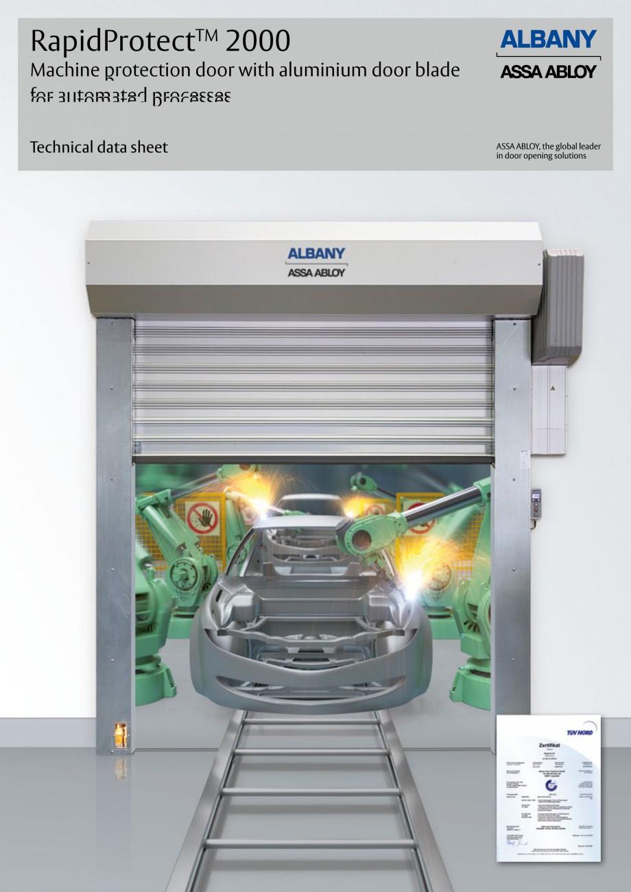 Pagina 1 - Usa industriala de inalta performanta ASSA ABLOY RapidProtectTM 2000 Fisa tehnica Engleza...