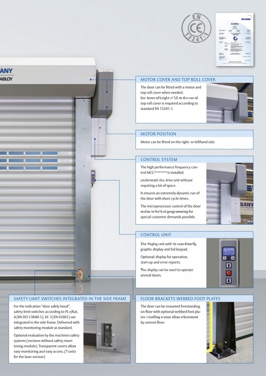 Pagina 3 - Usa industriala de inalta performanta ASSA ABLOY RapidProtectTM 2000 Fisa tehnica Engleza...
