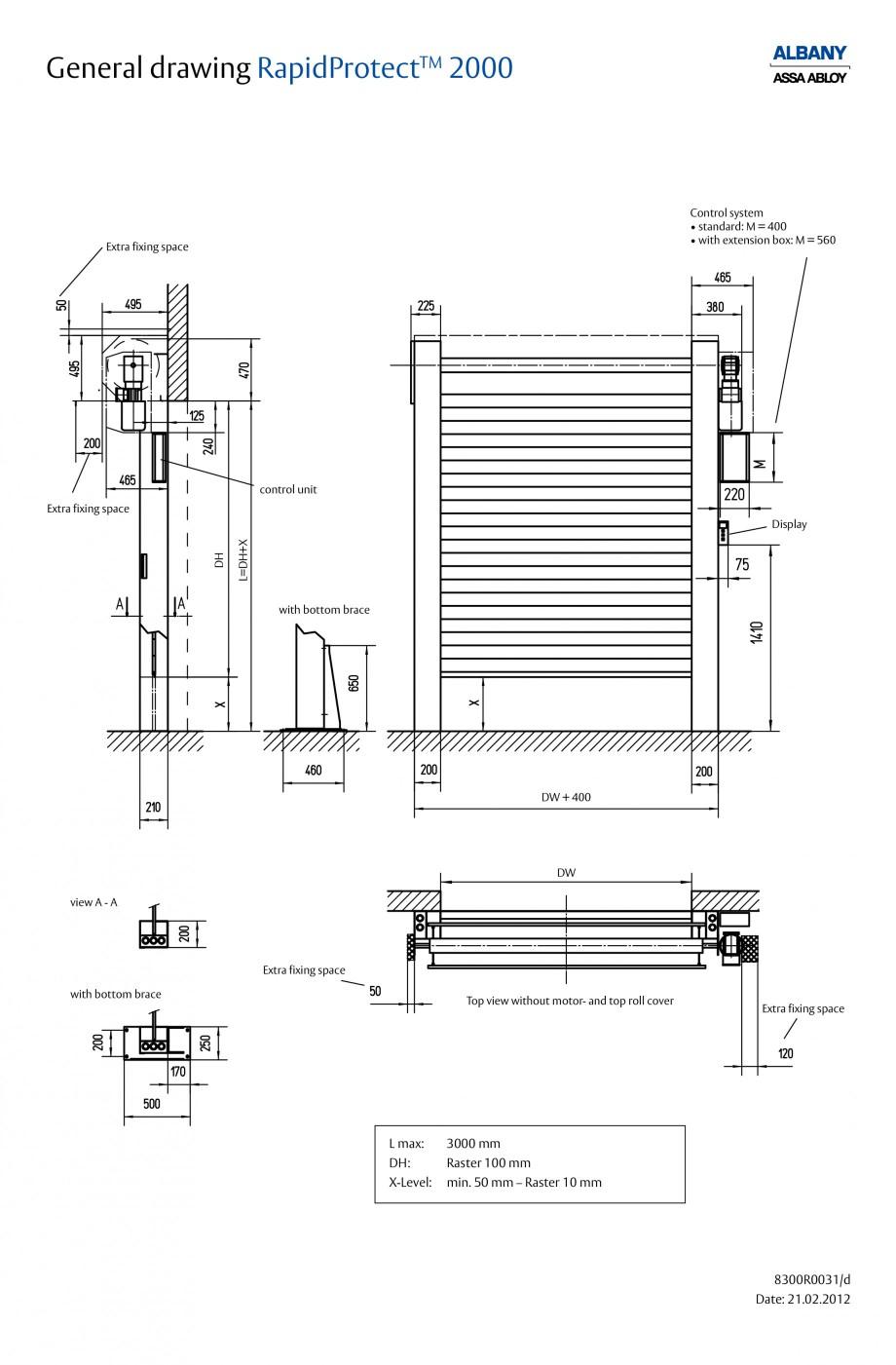Pagina 5 - Usa industriala de inalta performanta ASSA ABLOY RapidProtectTM 2000 Fisa tehnica Engleza...