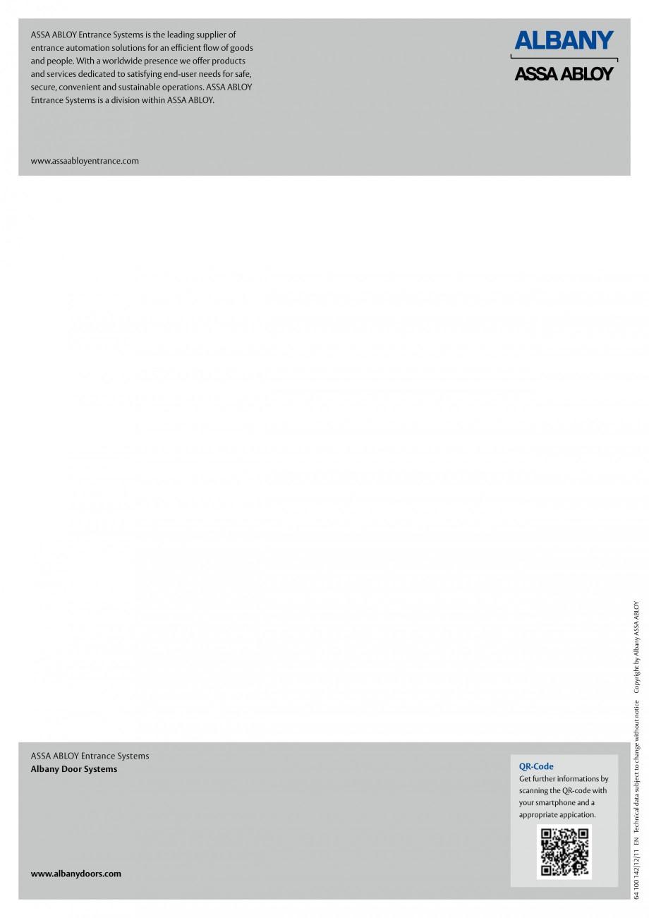 Pagina 6 - Usa industriala de inalta performanta ASSA ABLOY RapidProtectTM 2000 Fisa tehnica Engleza...
