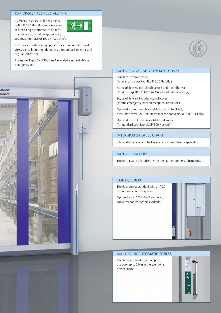 Pagina 3 - Usa industriala de inalta performanta ASSA ABLOY RapidRoll® 300 Plus Alu Fisa tehnica...