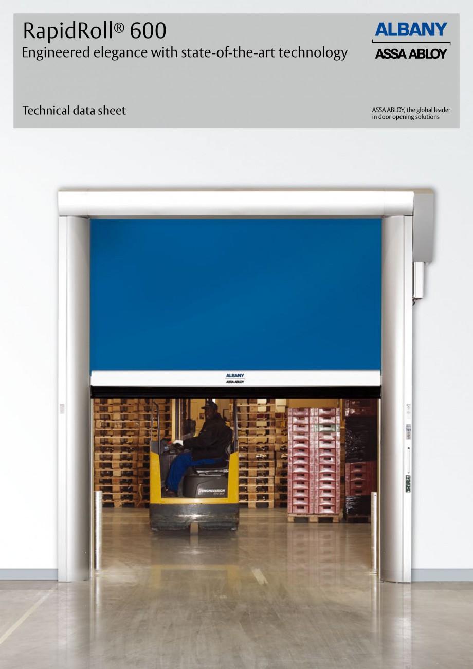 Pagina 1 - Usa industriala de inalta performanta ASSA ABLOY RapidRoll® 600 Fisa tehnica Engleza ...